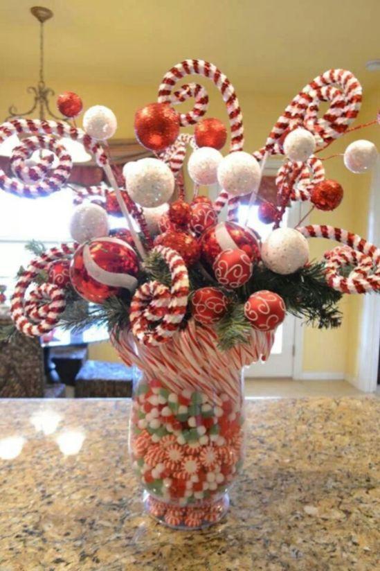 Creative diy christmas table centerpieces ideas 18