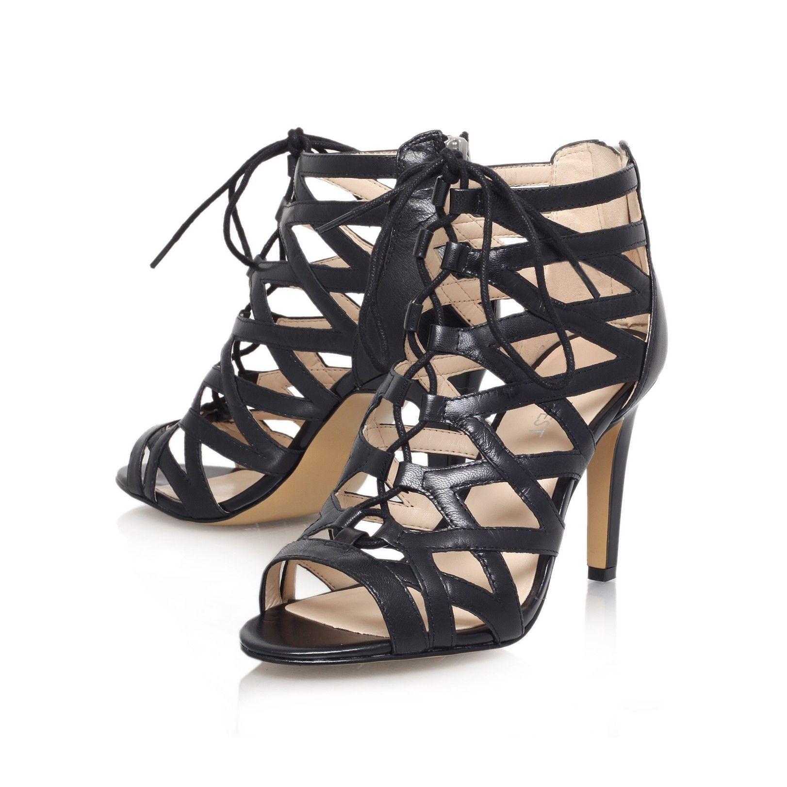 Black sandals nine west - Authority Black Shoe By Nine West Women Shoes Sandals High Heels