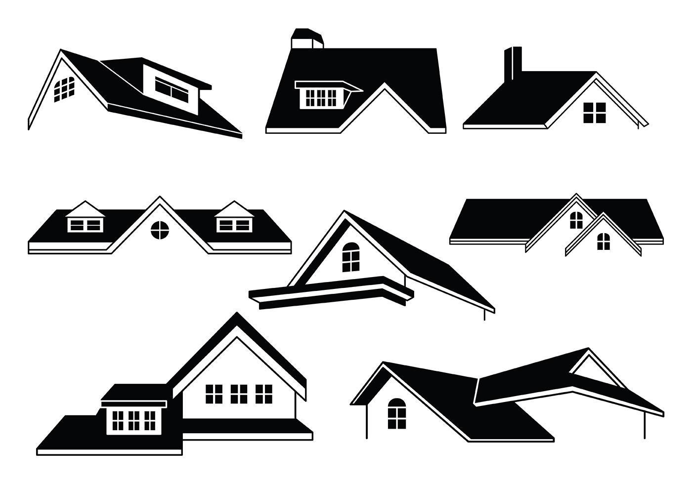 Free Rooftop Vectors Vector Free Roof Vector