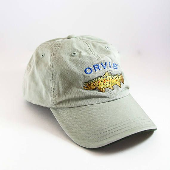 Vintage Orvis Trout Dad Hat    Insect Shield Hat    Fishing Baseball Cap     Low Profile Hat    Fly Fishing 254a01e0faa