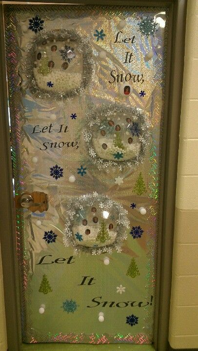 Door Decorating Contest At School Snow Globes With The Kids Pictures Inside Door Decorating Contest Christmas Door Decorating Contest Teacher Door Decorations