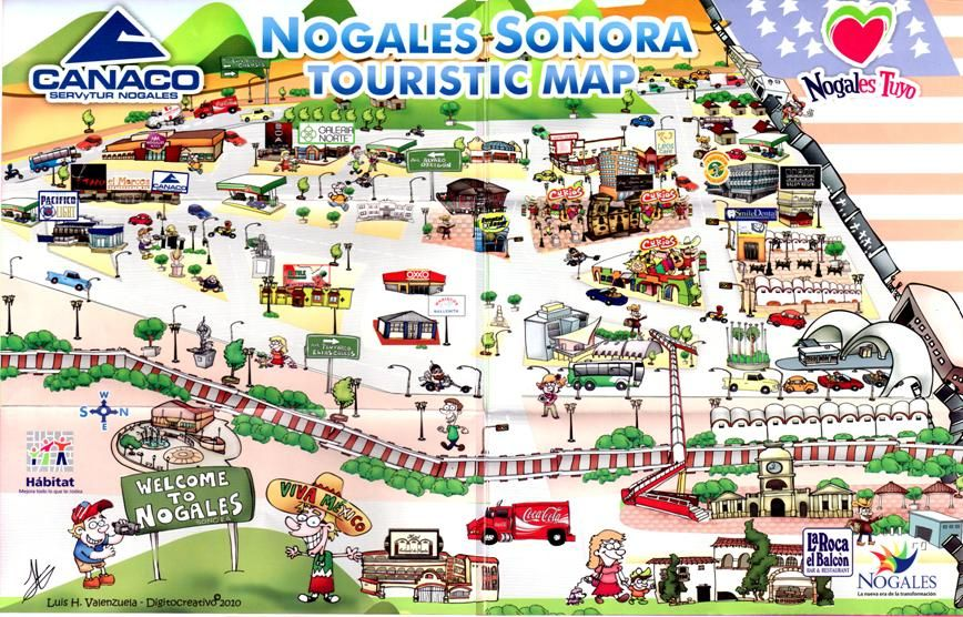 Nogales Tourist Map Nogales Sonora Mexico | Our town