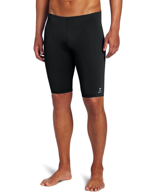 Men's Clothing, Swim, Racing, Sport Men's Solid Durafast Jammer Swim Suit -  Black - CI112N0LZM9 #Swim #summer #fash… | Mens swimwear, Athletic swimwear,  Sport man