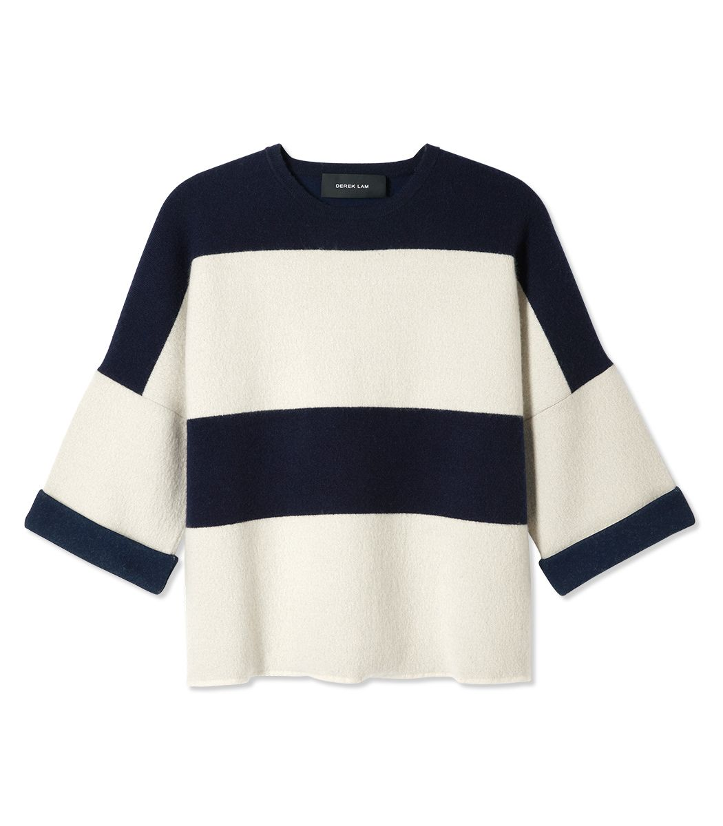 Derek Lam Stripe Top - Shop more summer date night looks: http://www.harpersbazaar.com/fashion/fashion-articles/summer-2014-date-outfits