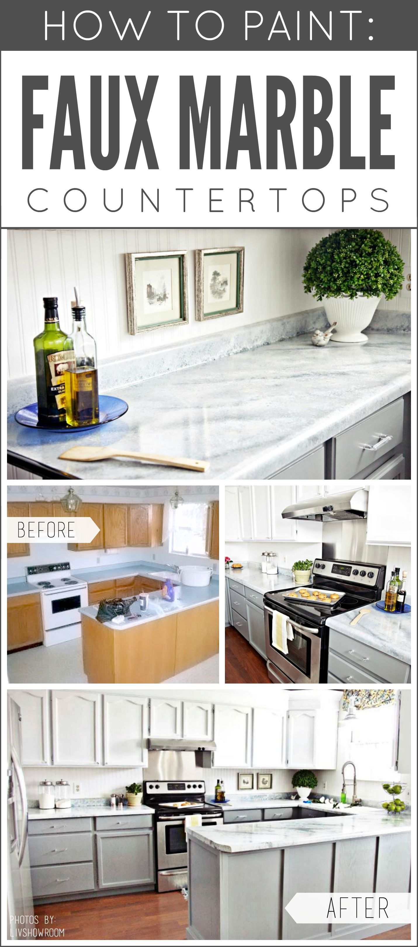 Dreaming Of Marble But It Isn T In The Budget Paint Your Own Transform Any Countertop Desktop Or Vanity Into A Cu Kitchen Remodel Kitchen Redo New Kitchen