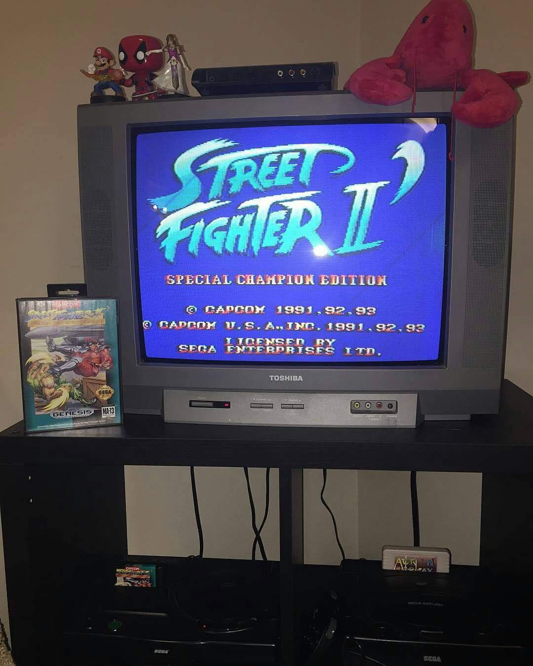 Shared by segasaturnsnk #segagenesis #microhobbit (o) http://ift.tt/1LzWL7T man speaks the truth please read. @Regrann from @wattswc_vg -  Playing some Street Fighter 2 on Genesis. Why would I play SF2 on Genesis when the new one came out today you may ask. Well because it doesn't fucking work. Months of beta preordered for like half a year no fight pads in stock walk to EB games in 10 feet of snow and the fucking servers are down. This is after having to download a 7gig patch. This is why…