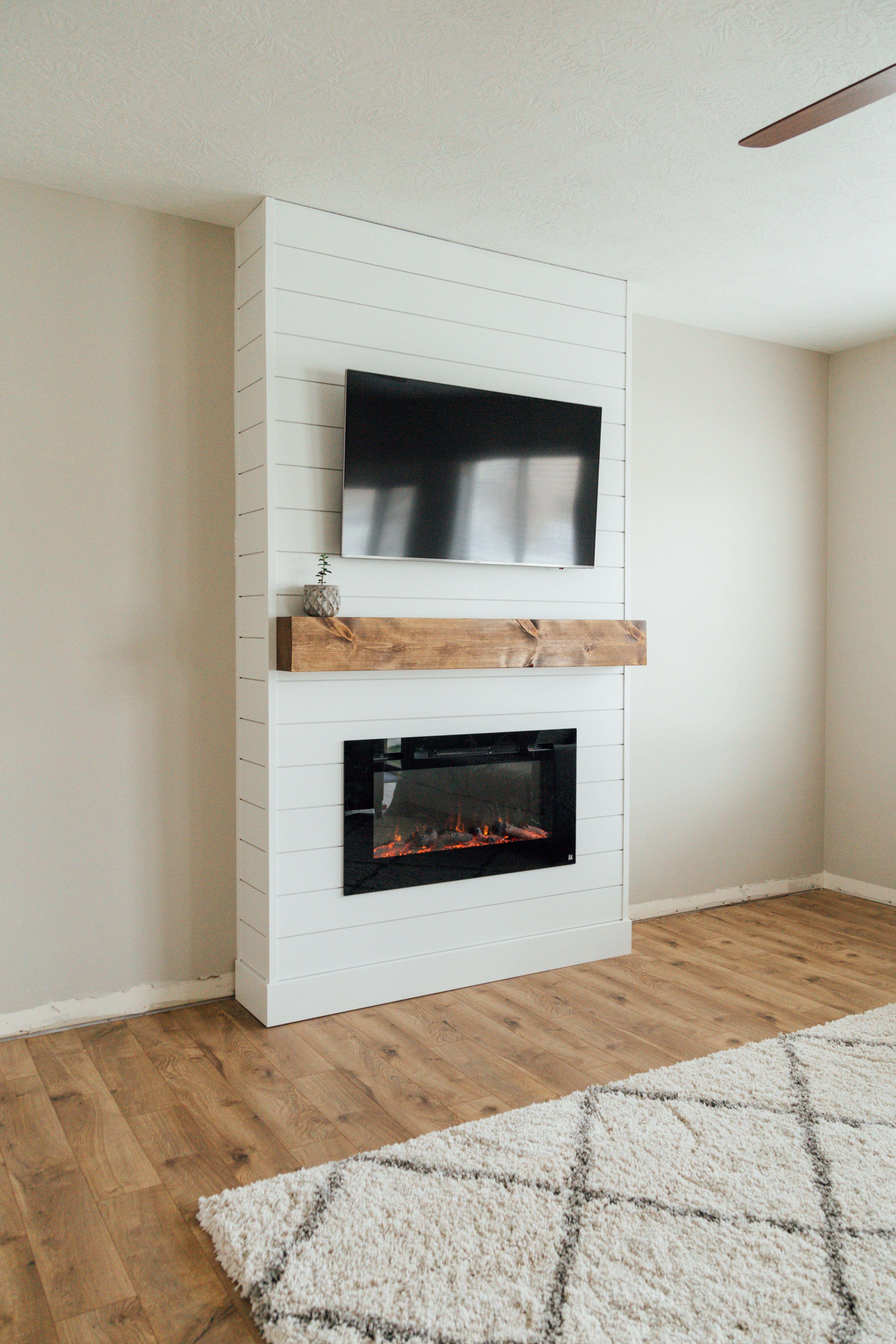Diy Shiplap Fireplace Project Simple Shiplap Fireplace Electric