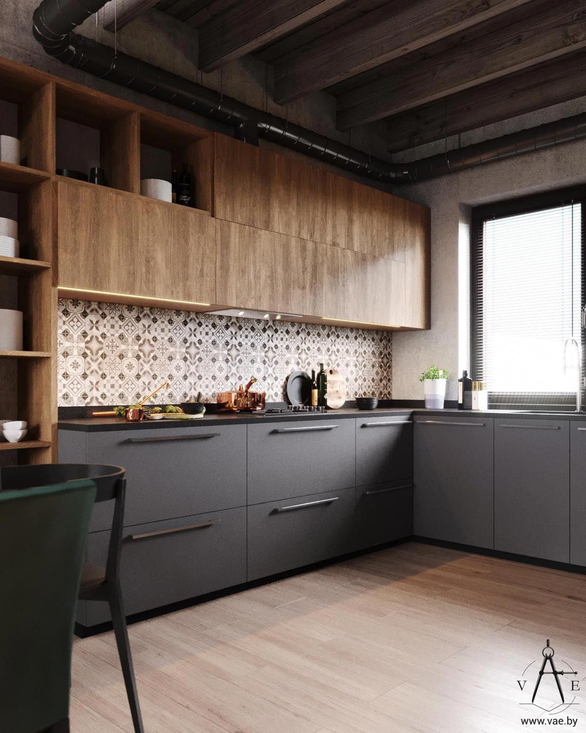 Photo of Calda casa in stile industriale (con layout)
