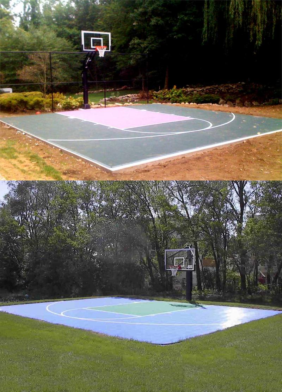 22 Genius Concepts Of How To Makeover Backyard Sport Court Ideas Simphome Backyard Sports Backyard Basketball Court Backyard