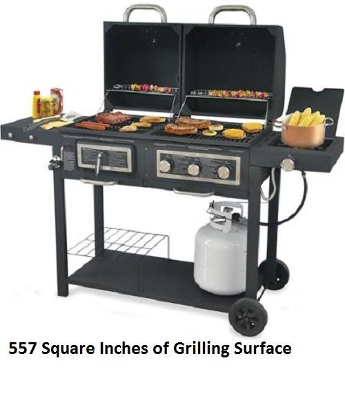 Gas Charcoal Grill Dual Fuel Outdoor Barbecue Bbq Grilling 557 Sq In Cooking Cleaning Bbq Grill Gas And Charcoal Grill Backyard Grilling