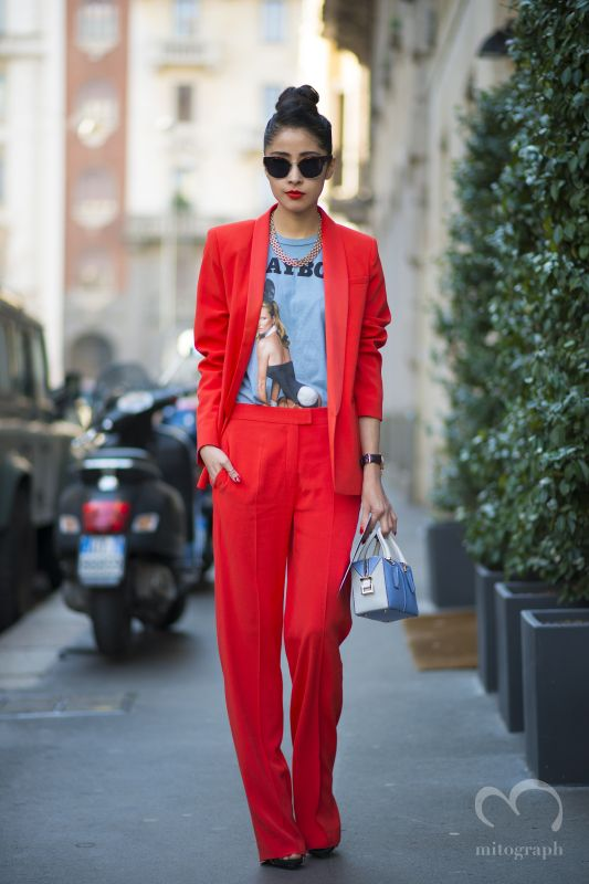 Chicmuse blogger Denni Elias wears Playboy Kate Moss by MarcJacobs tshirt during Milan Fashion Week 2014 Fall WInter MFW