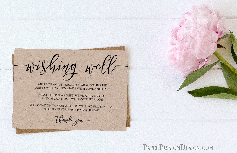 Wishing Well Enclosure Card Wedding Invitation Card