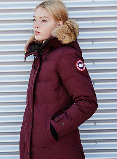 1ab95ad7158 Canada Goose at Simons Long parka with a slim fit to brave frigid days with  style and elegance. Premium