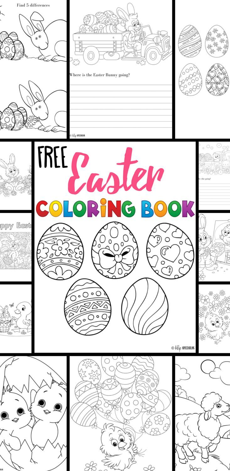 Free Easter Coloring Pages Your Kids will Love! | Pinterest | Libros ...