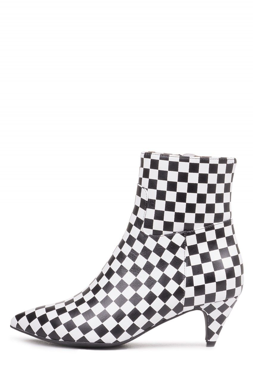 604deef905 Jeffrey Campbell Shoes MUSE New Arrivals in Black White Checkerboard ...