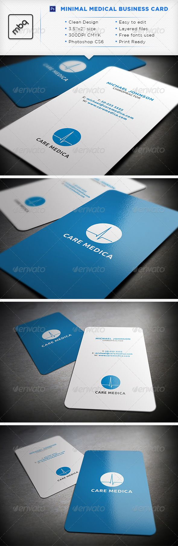 Medic Minimal Medical Business Card – Medical Business Card Templates