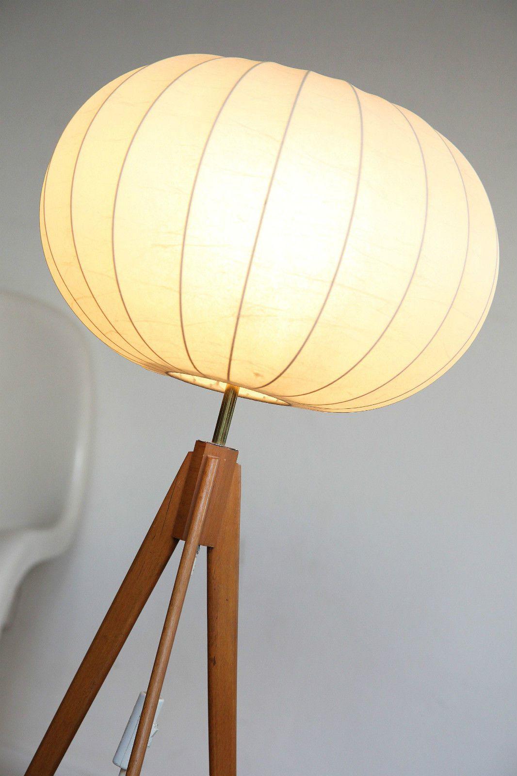 Tripod Stehlampe Castiglioni Nelson Ära Steh Lampe Mid Century 60er ...