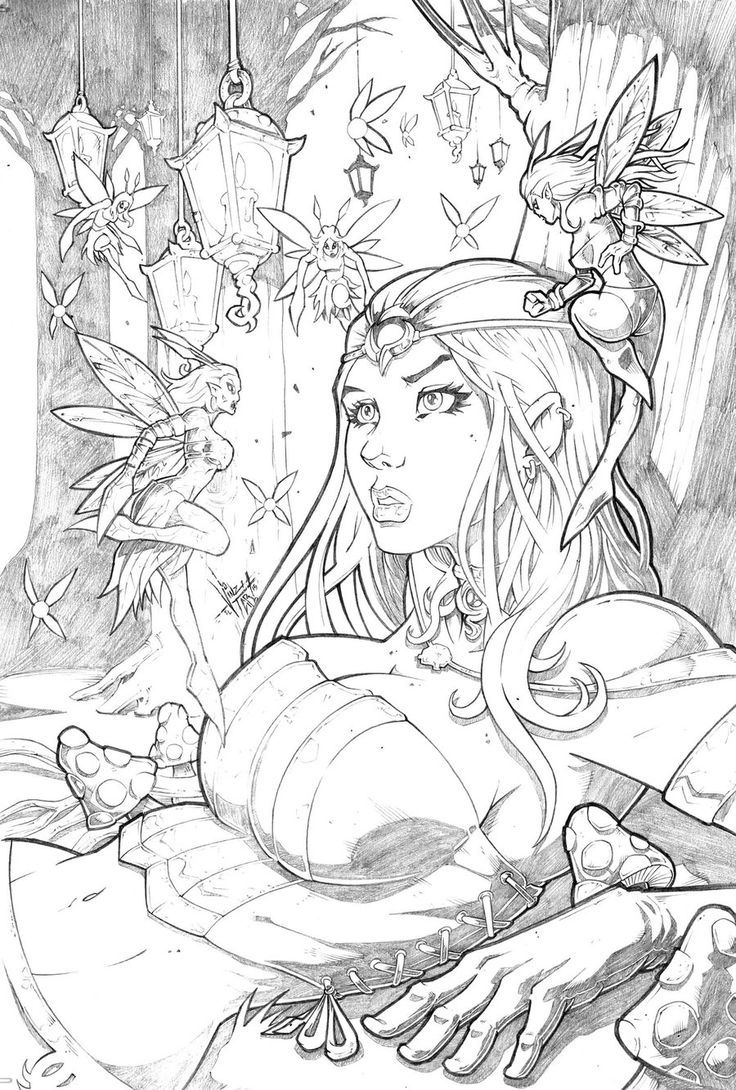 Grimm fairy tales wonderland pencil by vinzeltabanas