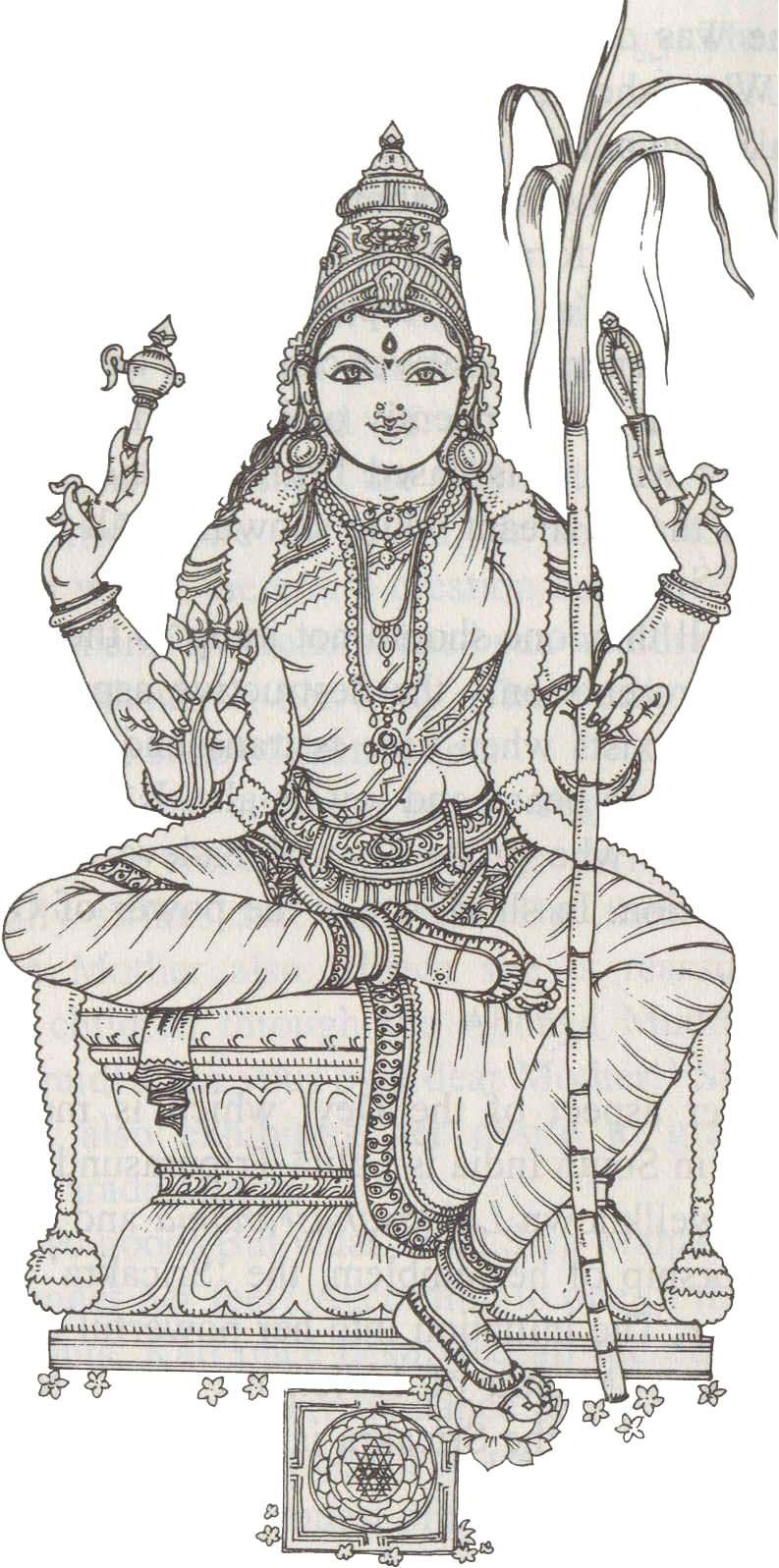 Dasha Mahavidya | Tripura Sundari | Pinterest | Hindus y Colorear