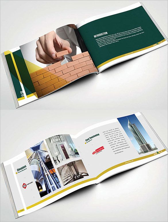 Company Brochure Templates | 17 Top Construction Company Brochure Templates Free Premium