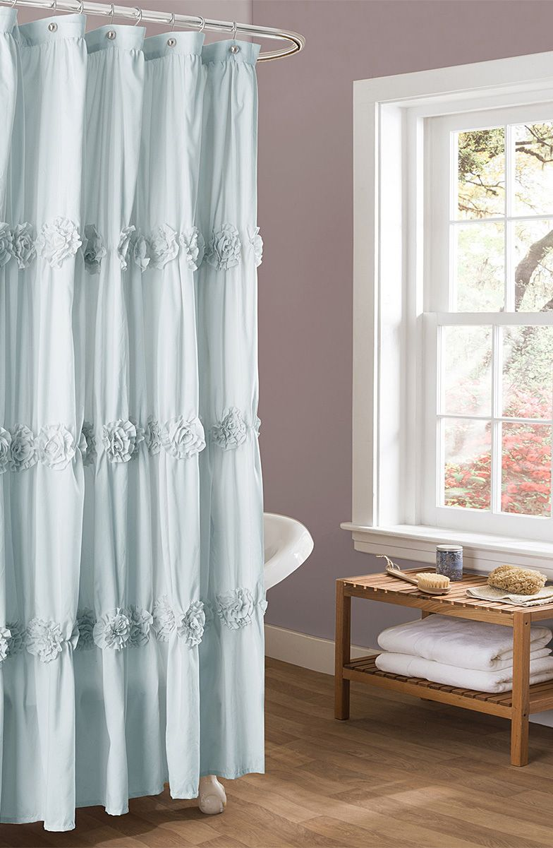 Spa Blue Darla Shower Curtain Hellosociety With Images
