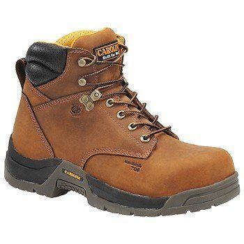 """Carolina Shoe 6"""" W P Broad Toe W B Boots (Dark Brown) - Men's Boots - 11.5 D"""