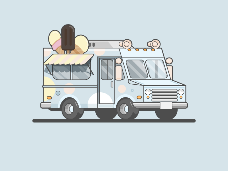 Ice Cream Truck Ice Cream Truck Pixel Art Truck Design