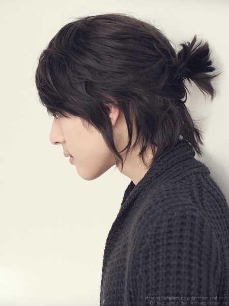The Samurai Bun Hairstyle Hairstyle On Point Japanese Hairstyle Long Hair Styles Men Korean Men Hairstyle