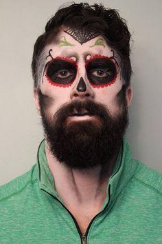 Resultado De Imagem Para Dia De Los Muertos Makeup Man Beard