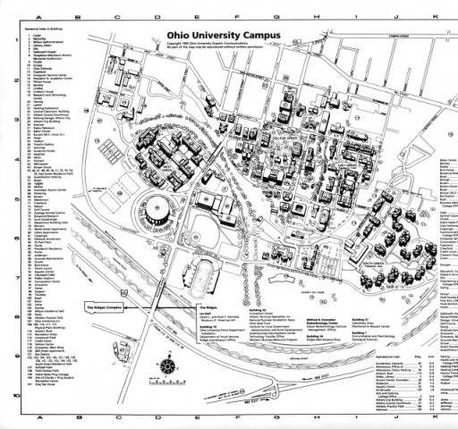 Ohio University Campus Map 1995 Ohio University Archives