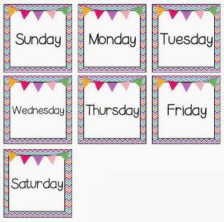 Nurturing Noggins Day Seven Of The Ten Days Of Giveaways Pocket Chart Printable Flash Cards Classroom Calendar