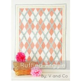 Ruffled Argyle quilt pattern by V & Co