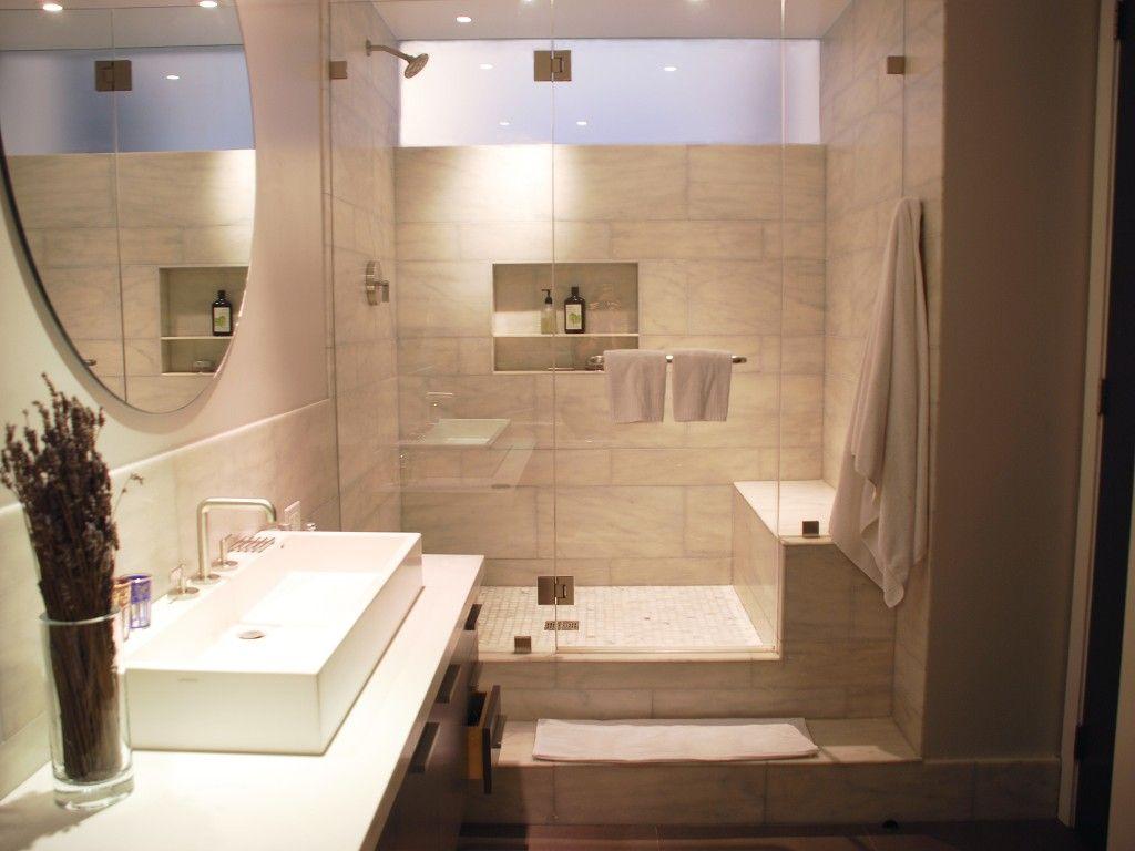Master Bath View Towards Shower With Clerestory Window Master Bathroom Window In Shower