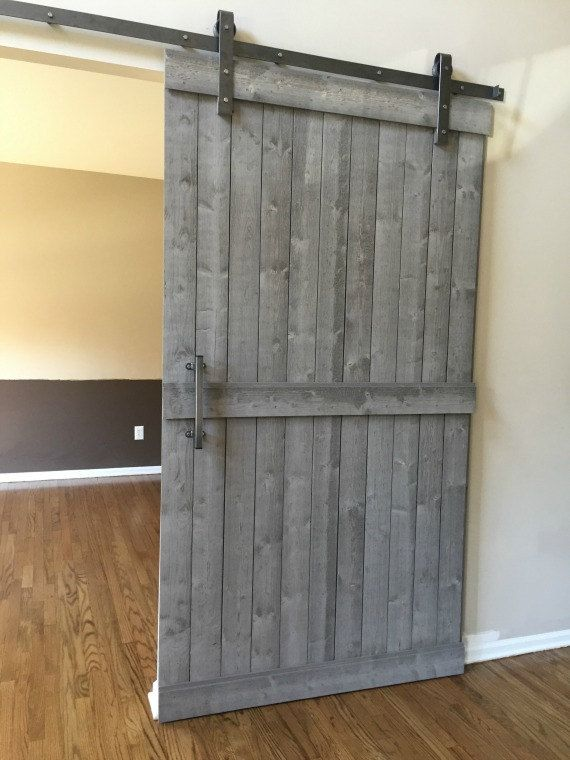 Sliding Barn Door Hardware Kit With Track Raw Steel Finish Door Not Included Barn Door Hardware Sliding Barn Door Hardware Diy Barn Door