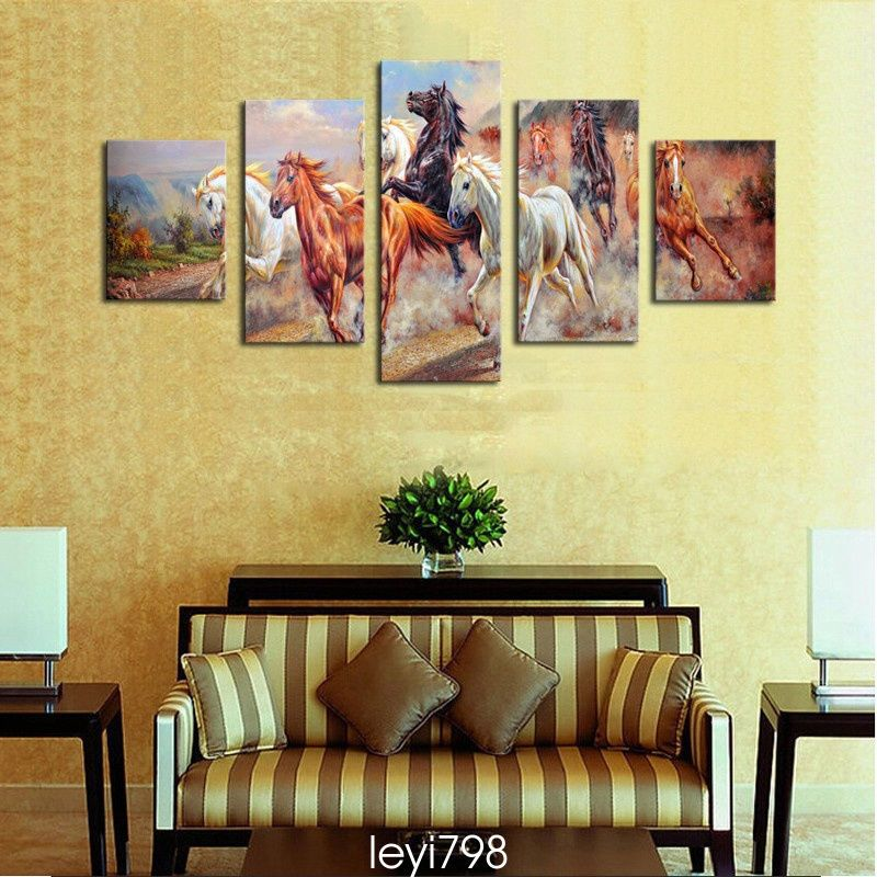 Modern Home Decor Canvas Painting Hd Print Picture Art Running Horse ...