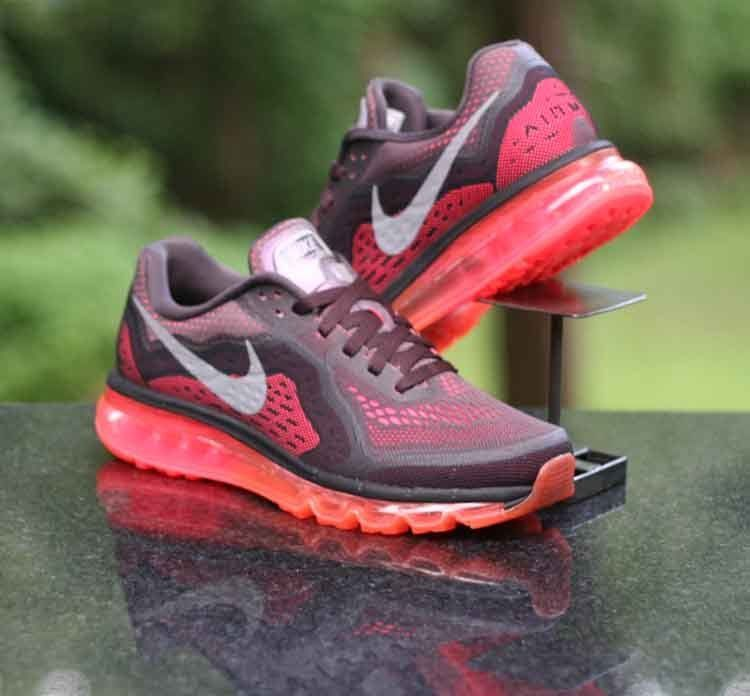 Details about Nike Women Air Max 2014 Running Shoes Brown