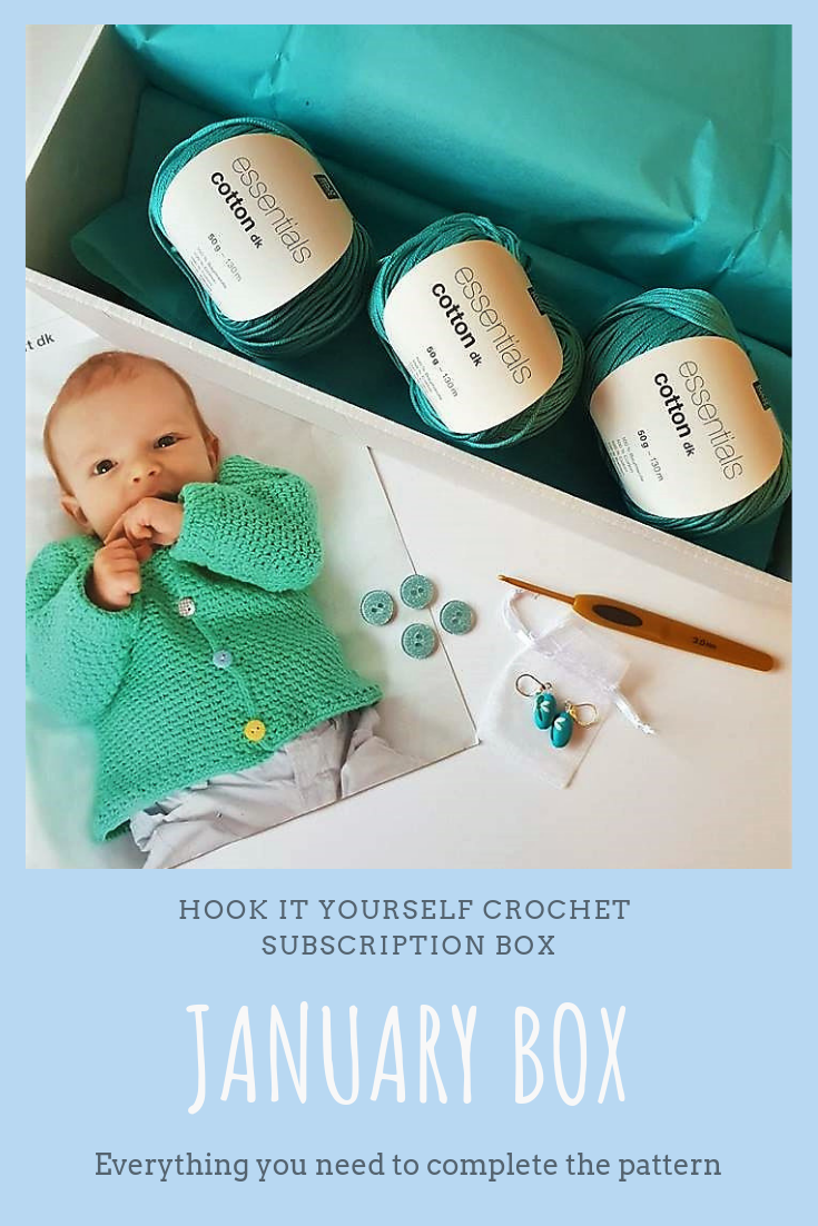 January S Crochet Subscription Box Was Filled With A High Quality Cotton Yarn From Rico A Stunning Little Pattern Clover Hook And Some Reall Subscription Boxes