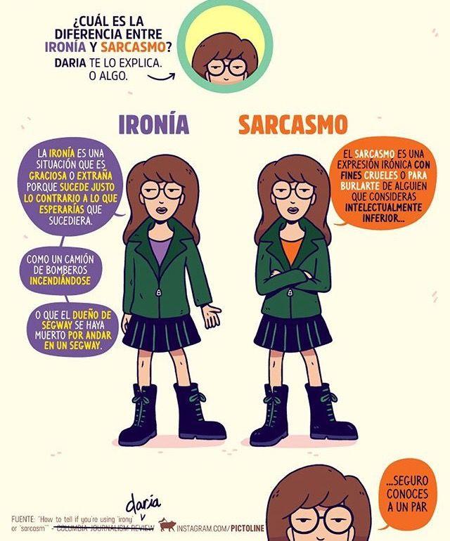 Ironía - sarcasmo | Pictoline | Pinterest | Ironía, Sarcasmos y ...