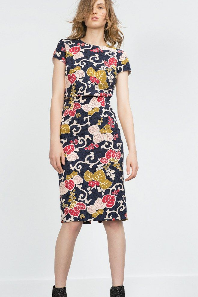 robe coupe crayon zara pour une silhouette tr s f minine. Black Bedroom Furniture Sets. Home Design Ideas