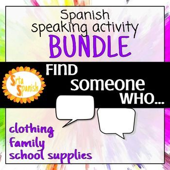 Get students up and using their Spanish with these Seek  Sign - student sign in sheet