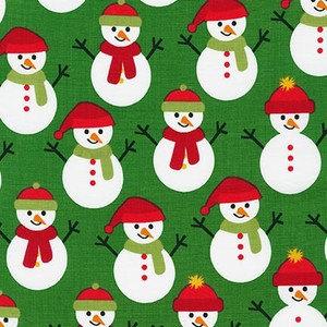By Yard-Jingle 3 Cute Polar Bear Holiday Robert Kaufman 15267-7 Green