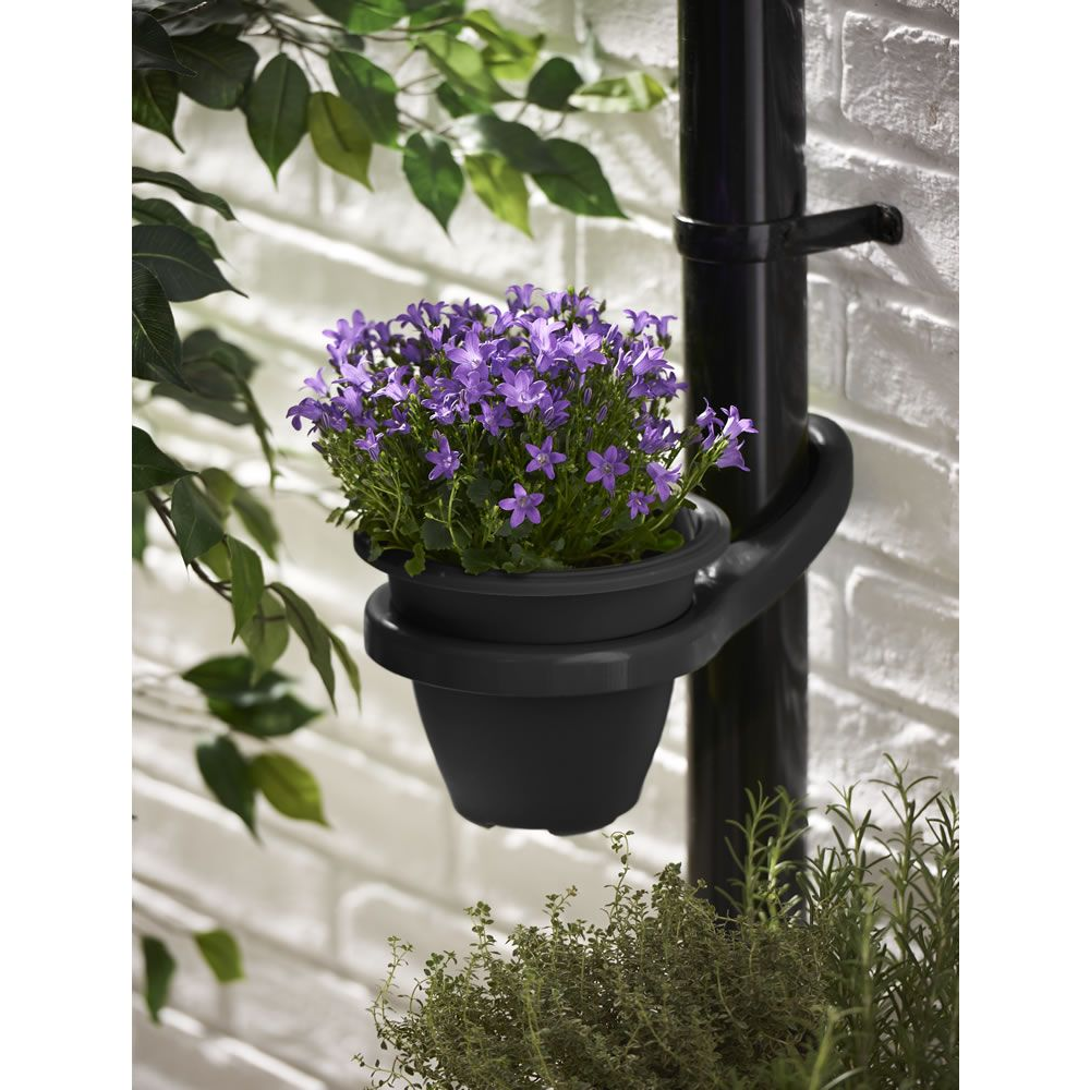Drain pipe pot holder black plants gardens and planters drain pipe pot holder black workwithnaturefo