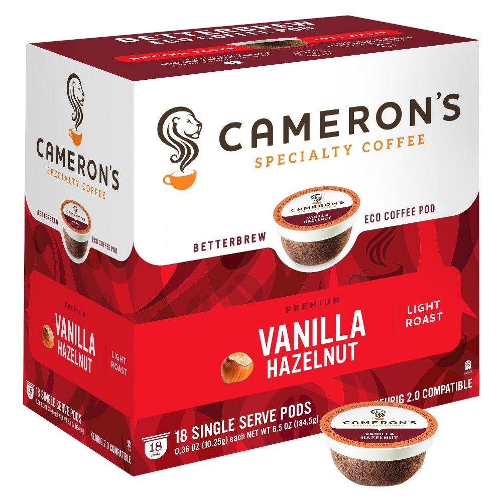 Cameron's Vanilla Hazelnut Light Roast Coffee Single