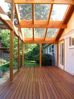 clear deck roof pergola patio