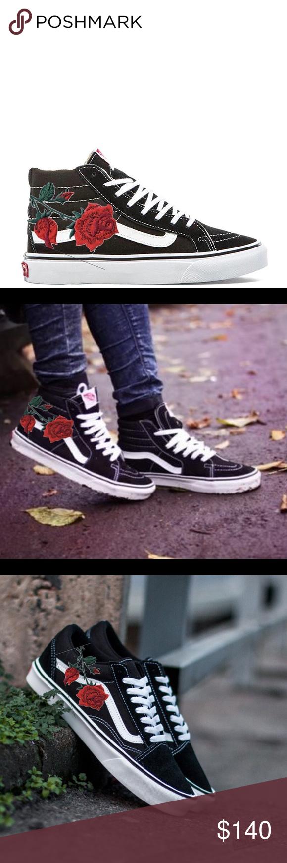 vans red rose