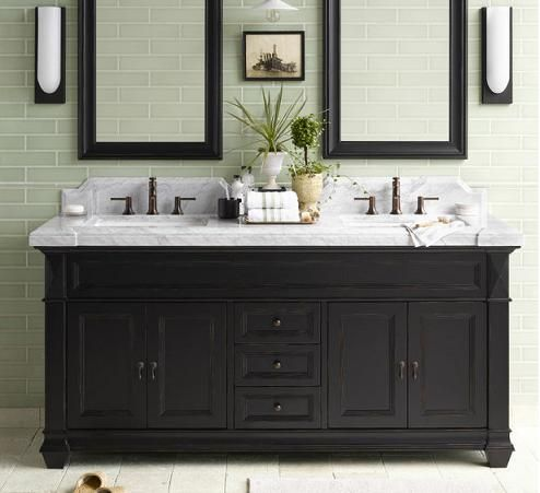 Merveilleux Black Vanity In Bathroom | .com Introduces A Tip Sheet On Black And White  Bathroom
