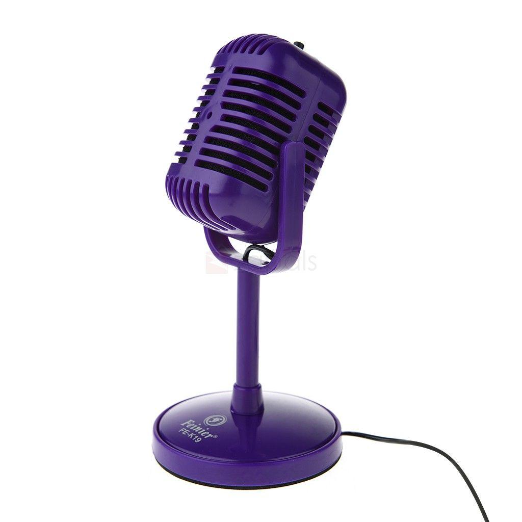 Adjustable angle desktop microphone w35mm jack for pc
