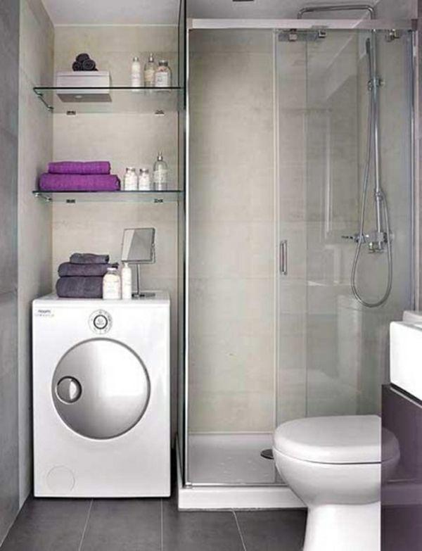 kleines-badezimmer-ideen-mit-zwei-regalen-auf-der-waschmaschine, Hause ideen