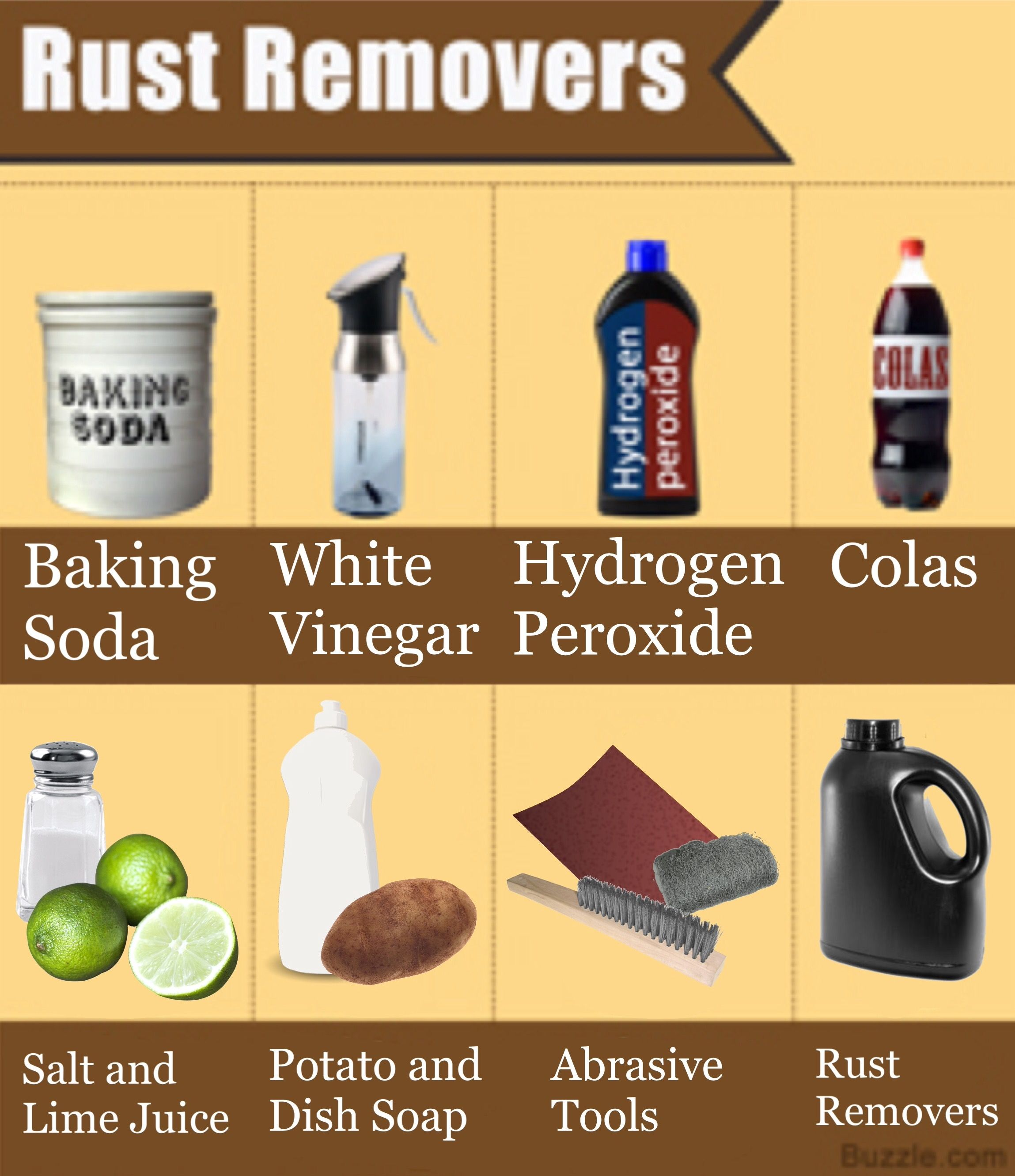 8 Ways Household Ings Can Be Used To Clean Rust Off Metal