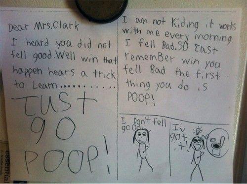 I love kids advice, so funny! good advice